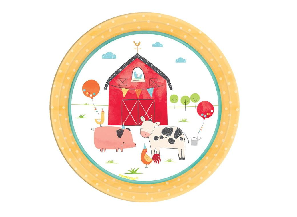 Barnyard Birthday Lunch Plates 8pk
