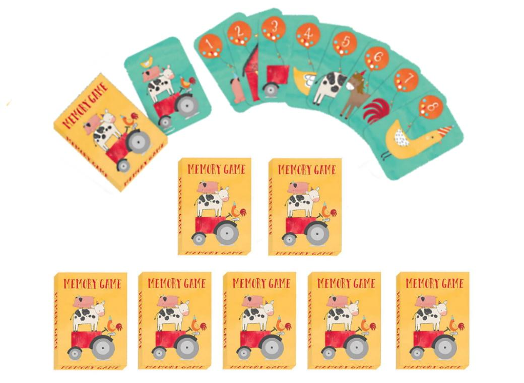 Barnyard Birthday Memory Game Favours 8pk