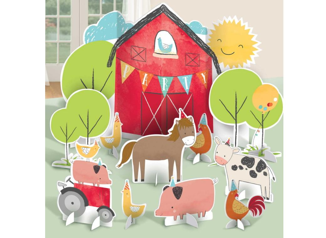 Barnyard Birthday Table Decorating Kit
