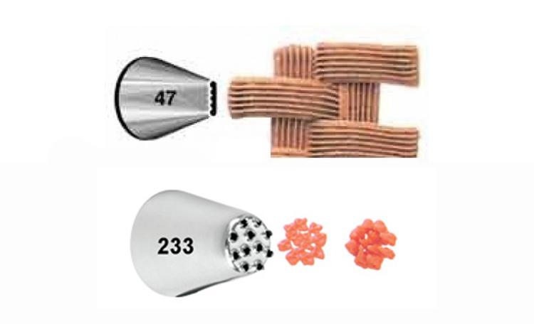 Wilton Basket #47&Multi Opening #233 Tip Set