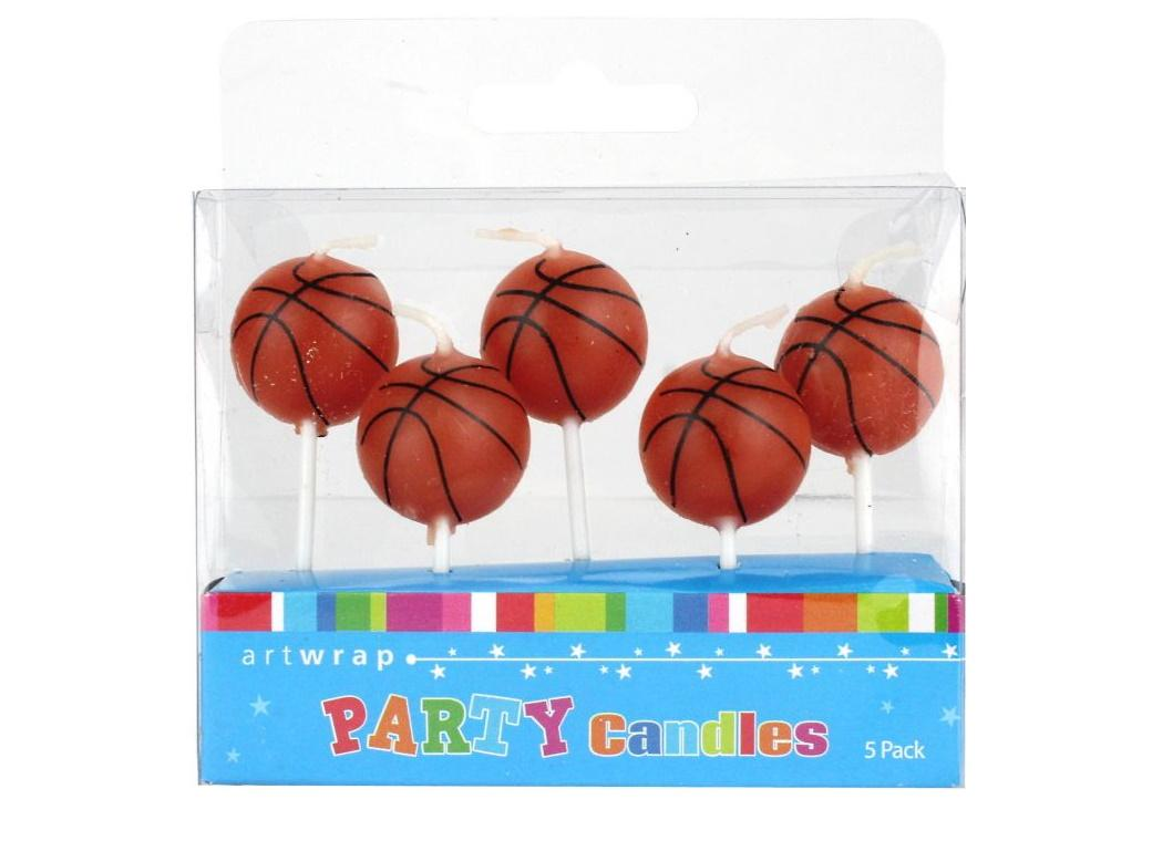 Party Candles - Basketball