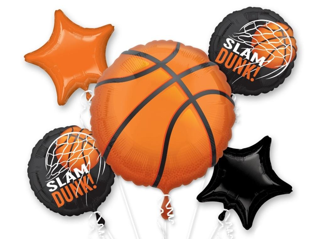 Basketball Foil Balloon Bouquet