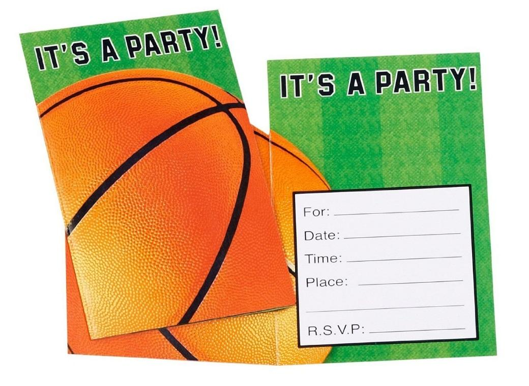 Basketball Invites 8pk