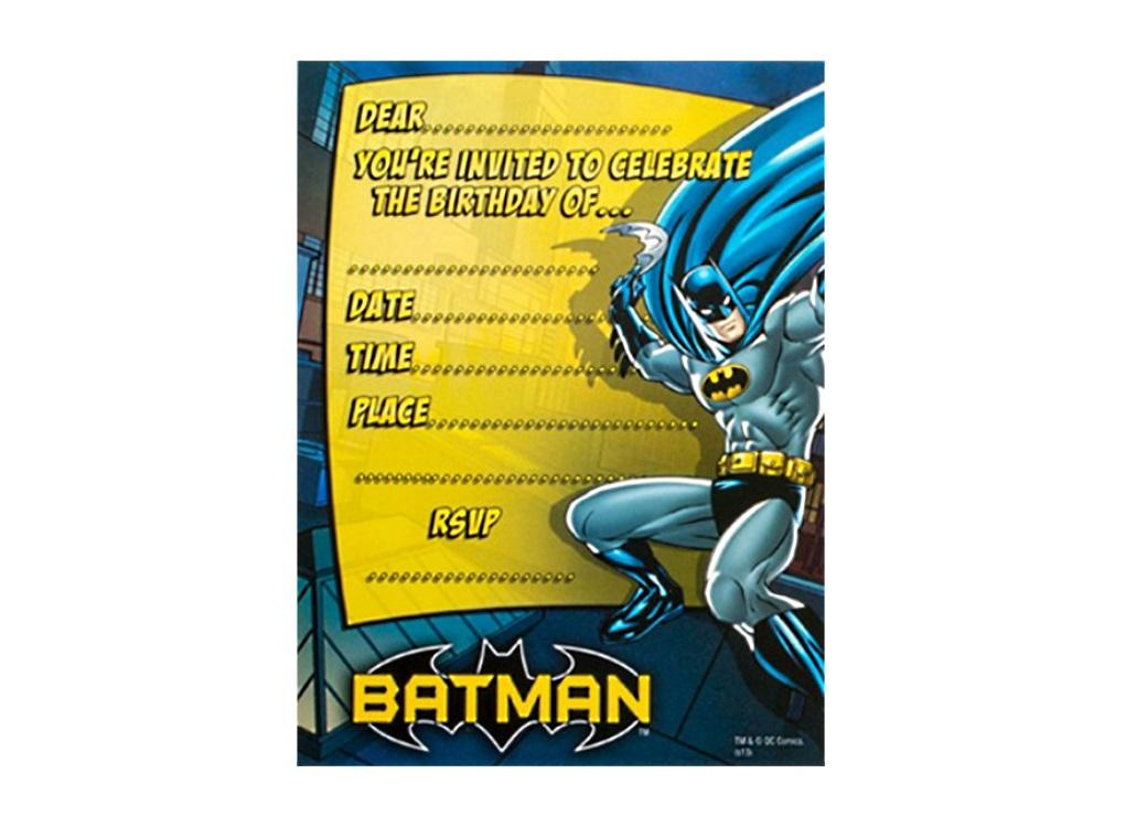 Batman Invitations - 8pk