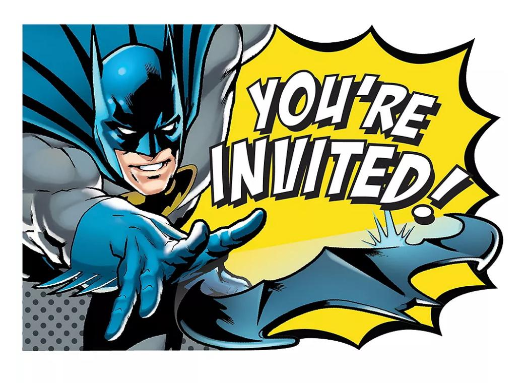 Batman Party Invites 8pk