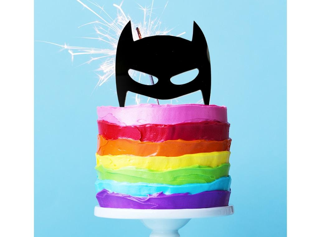 Batman Mask Cake Topper Black