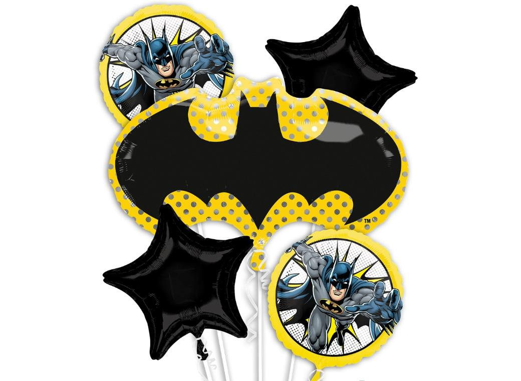 Batman Symbol Foil Balloon Bouquet