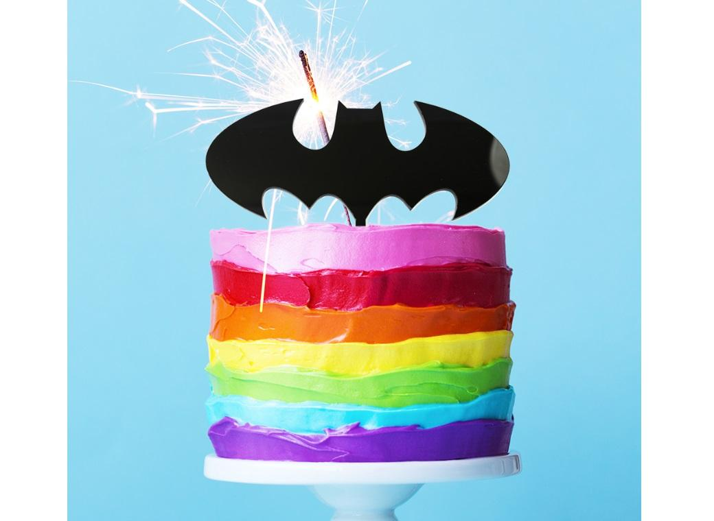 Batman Symbol Cake Topper Black