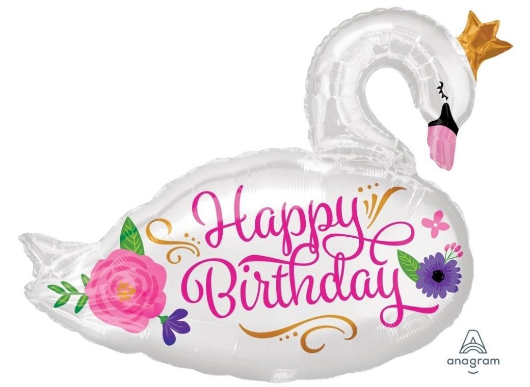 Beautiful Swan Shape Foil Balloon