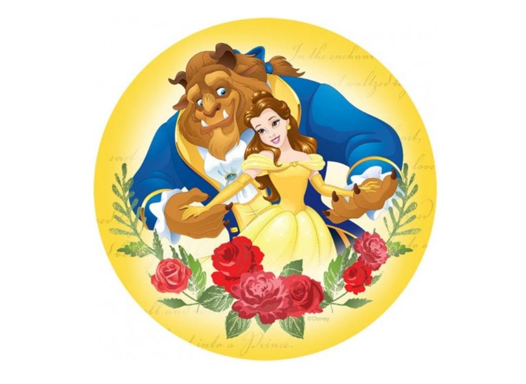 Edible Icing Image - Beauty and the Beast Round