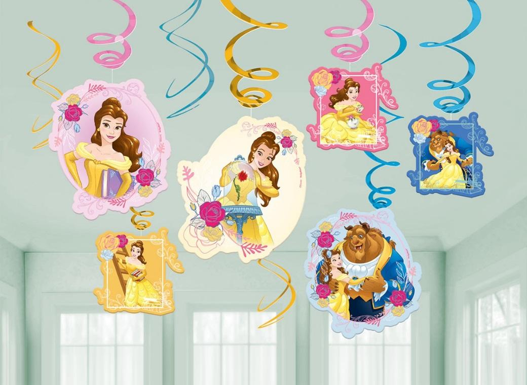 Beauty and the Beast Hanging Swirl Decorations