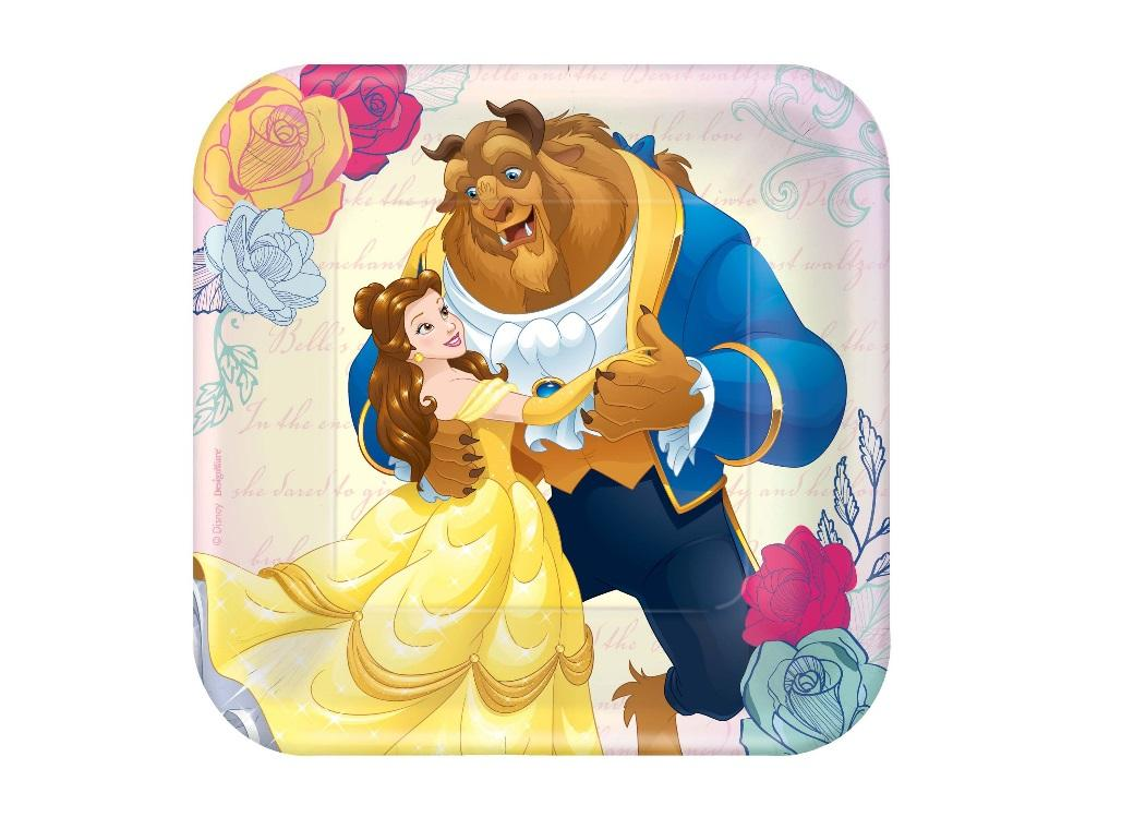 Beauty and the Beast Lunch Plates 8pk