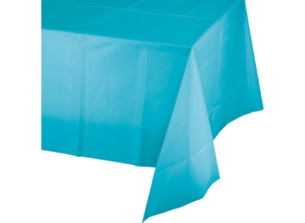 Bermuda Blue Plastic Table Cover