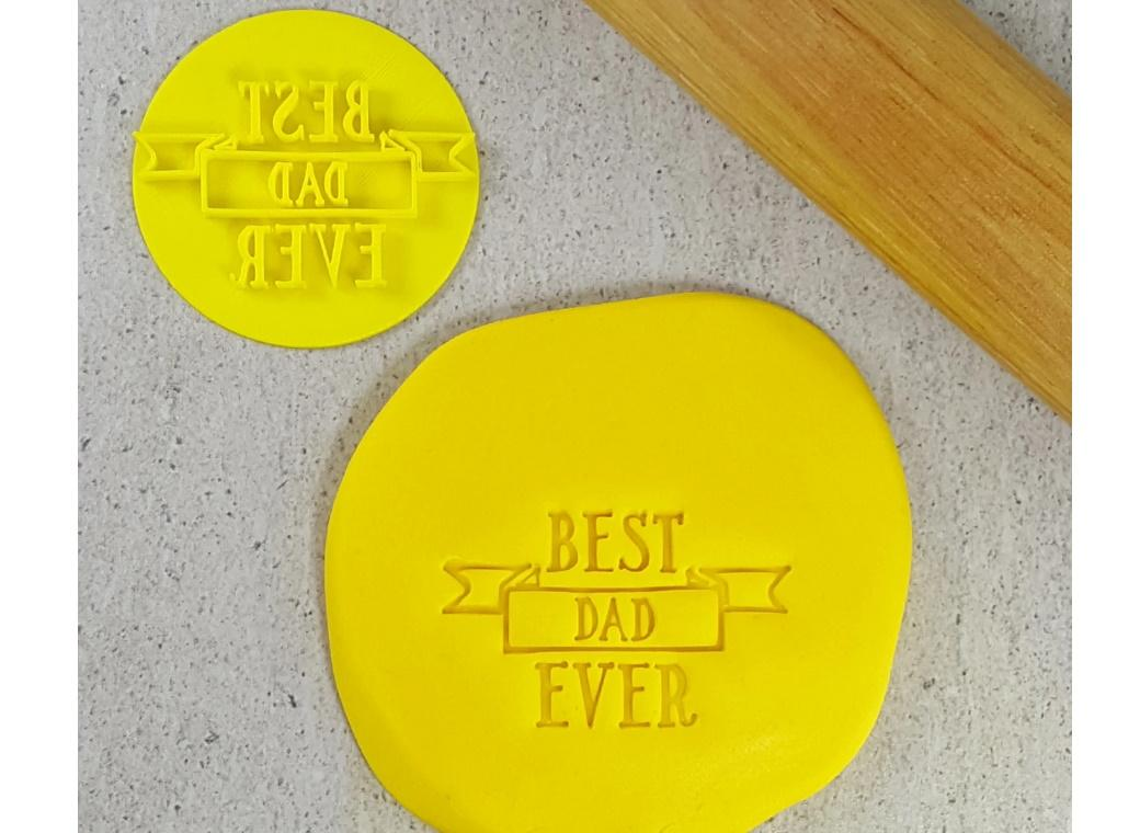 Best Dad Ever Ribbon Embosser