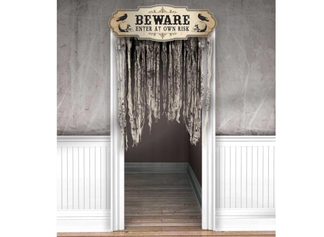Beware Doorway Curtain