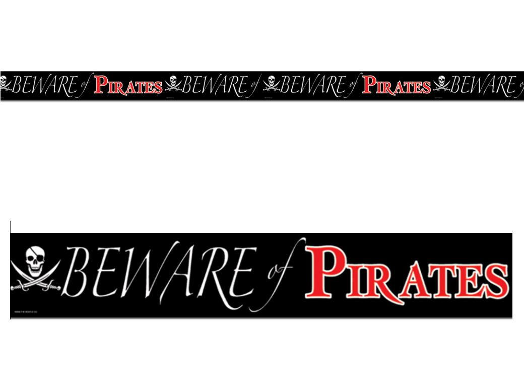 Beware of Pirates Decorating Tape