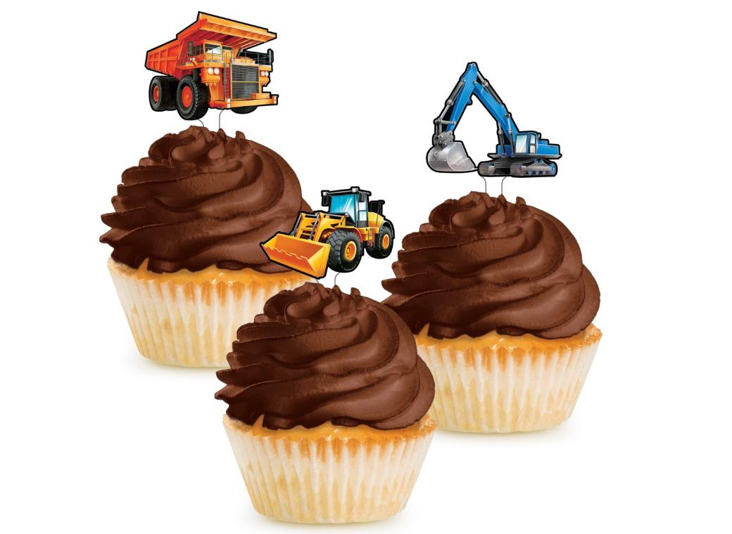 Big Dig Construction Cupcake Toppers
