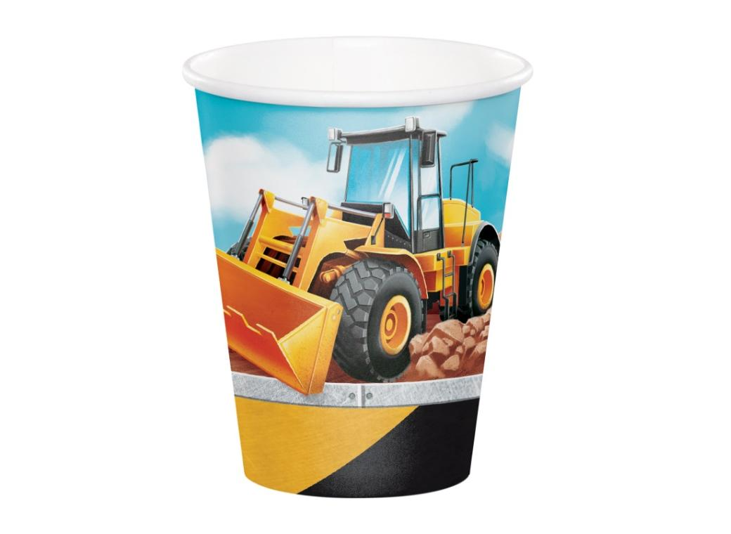 Big Dig Construction Cups 8pk