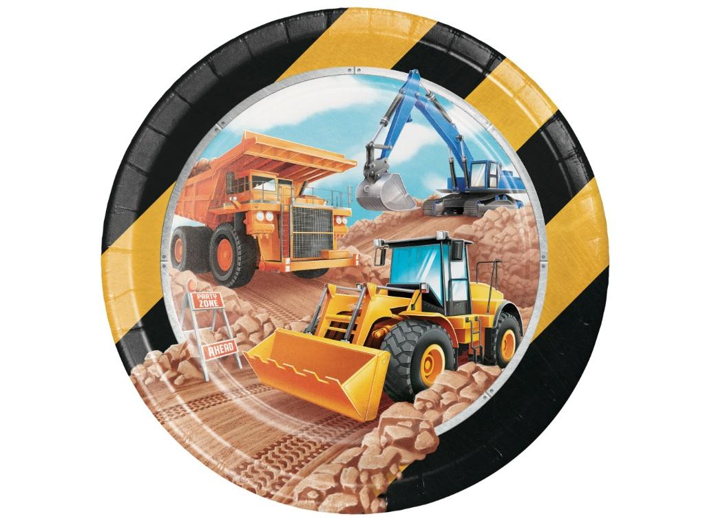 Big Dig Construction Dinner Plates 8pk