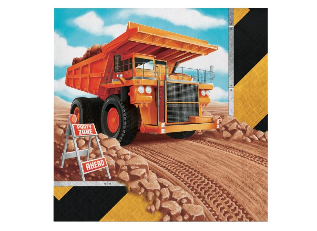 Big Dig Construction Lunch Napkins 16pk