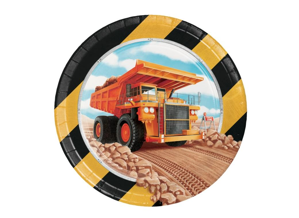 Big Dig Construction Lunch Plates 8pk