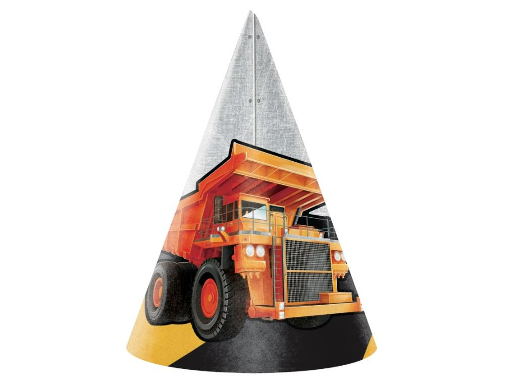 Big Dig Construction Party Hats 8pk