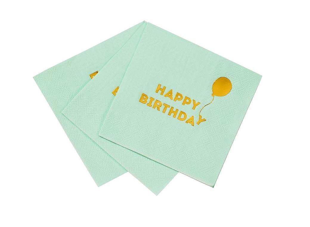 Birthday Balloon Cocktail Napkins 16pk