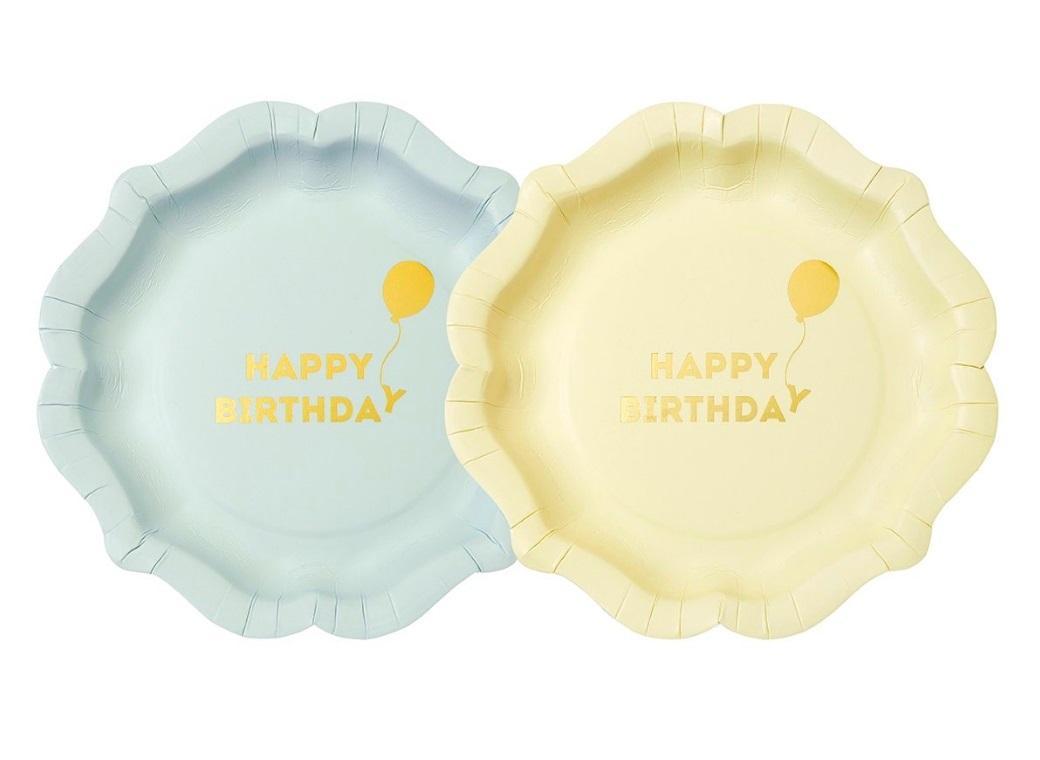 Birthday Balloon Plates 12pk