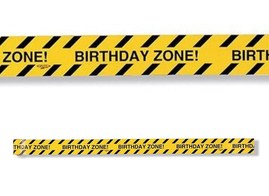 Birthday Zone Construction Tape