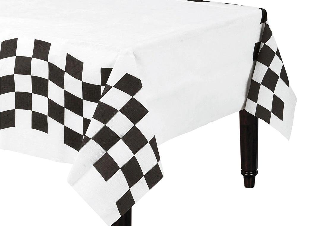 Black & White Check Tablecover