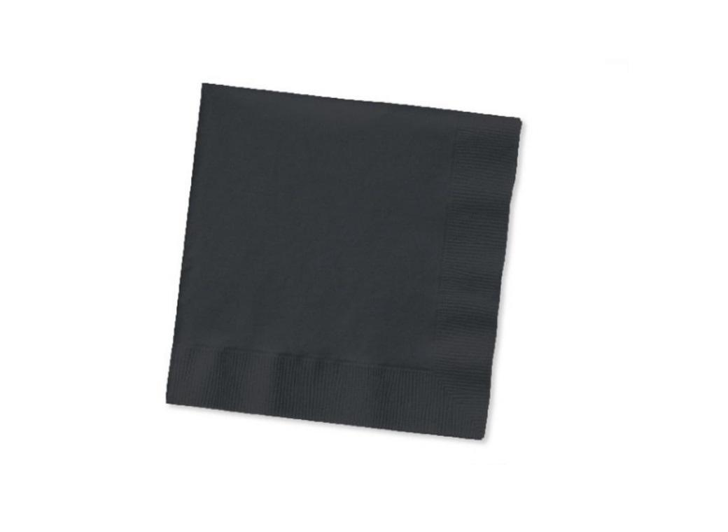 Black Beverage Napkins 50 Pack