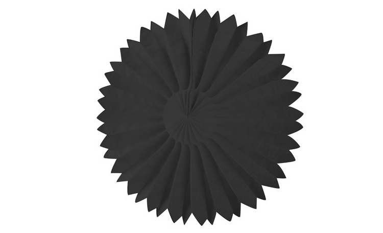 Tissue Fan Black 25cm