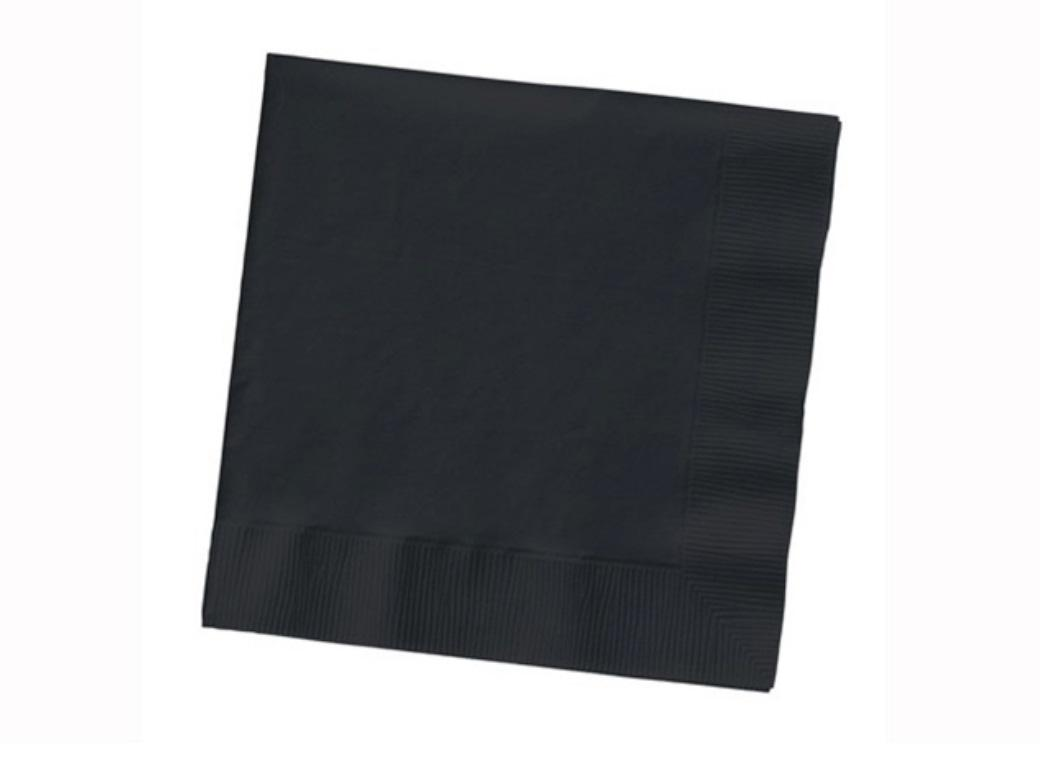 Black Lunch Napkins - 50pk