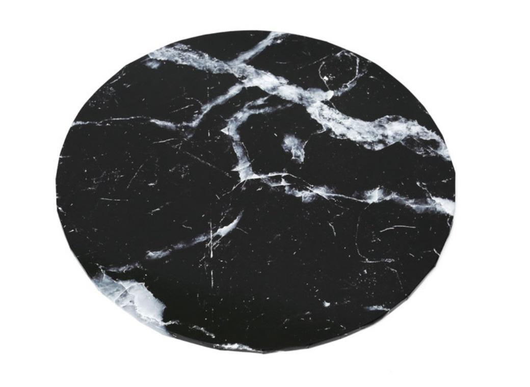 "Black Marble Masonite Cake Board Round 10"""