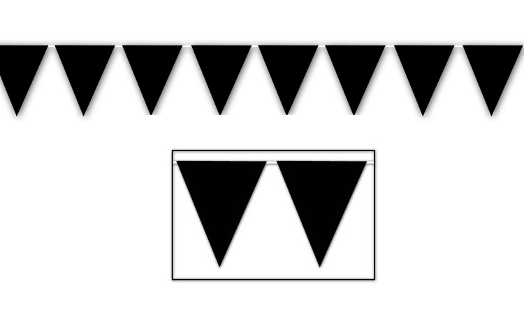 All Weather Bunting Flags - Black