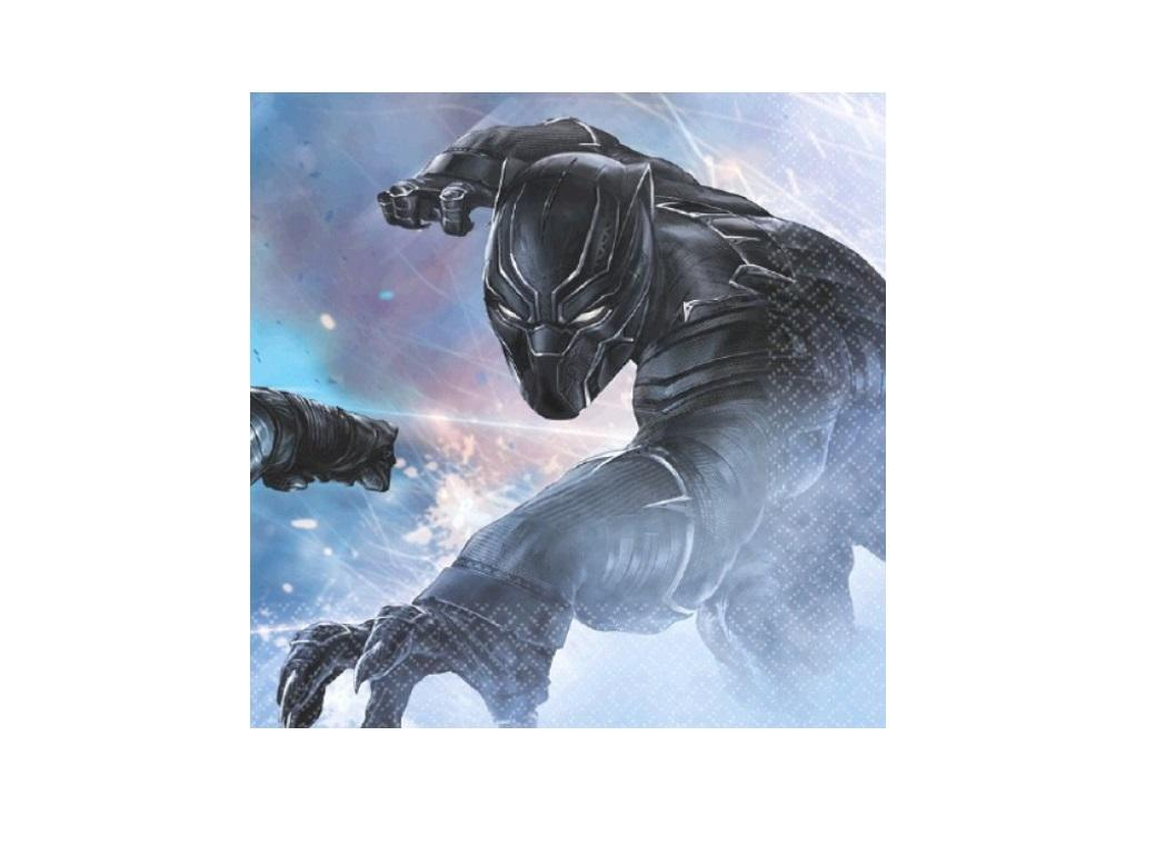 Black Panther Beverage Napkins 16pk