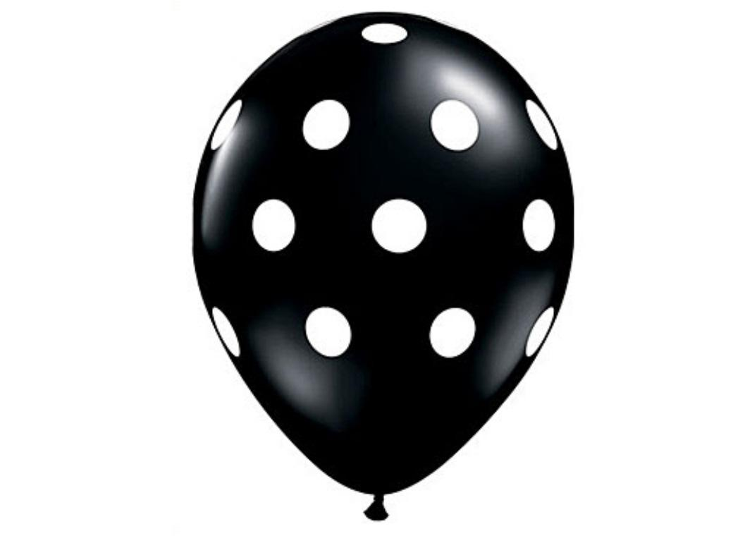 Black Polka Dot Balloons 12pk