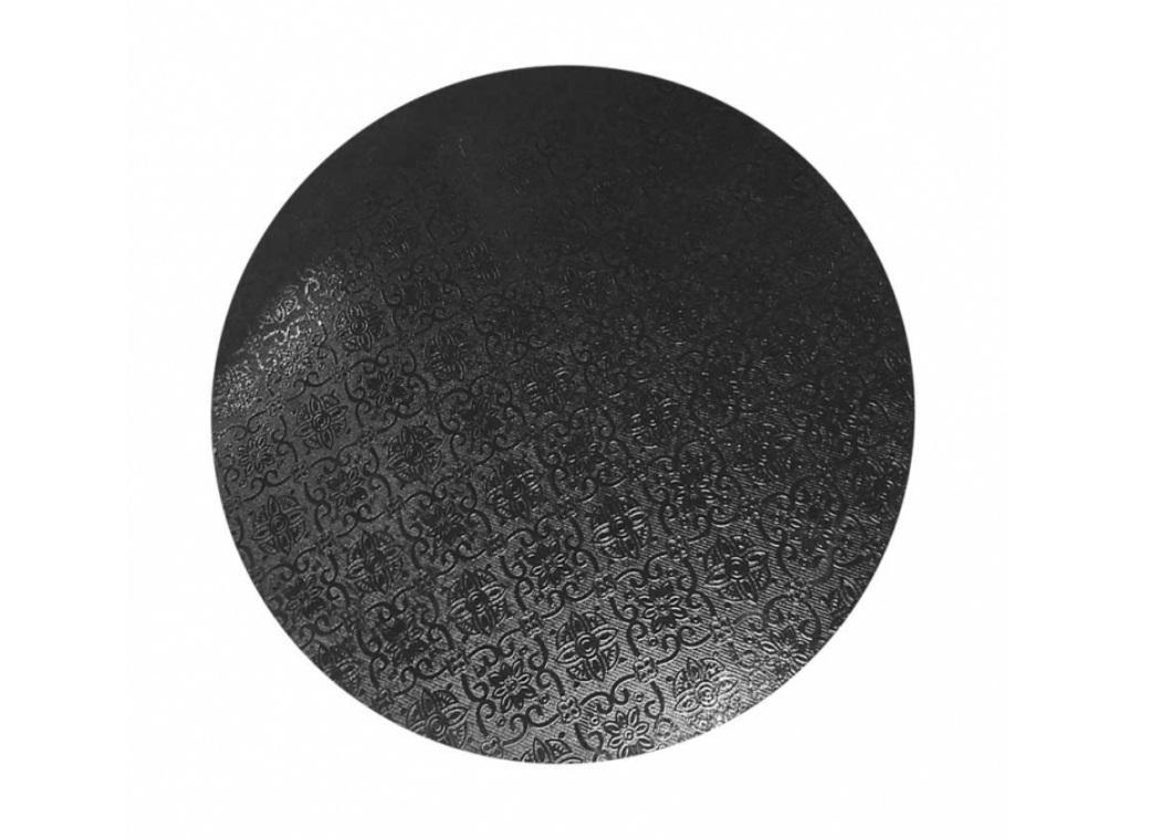 "Black Masonite Cake Board Round - 9"""