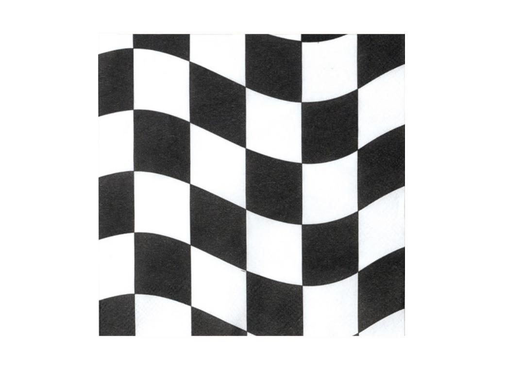 Black&White Check Lunch Napkins - 18pk