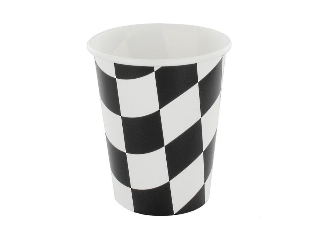 Black & White Check Cups - 8pk