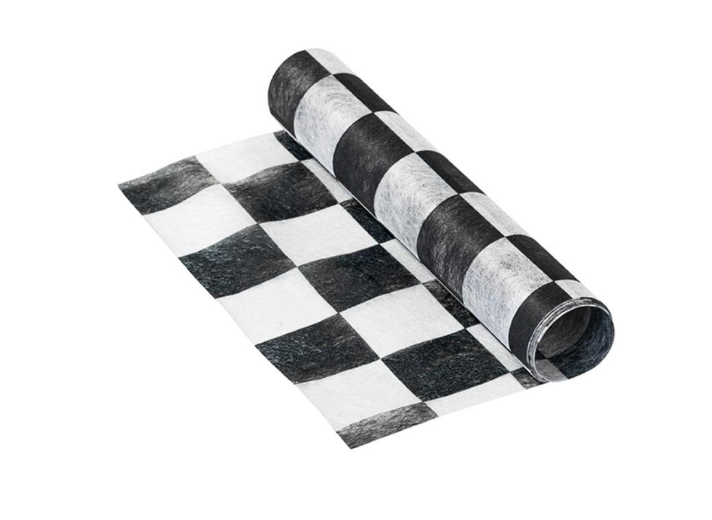 Black & White Check Runner