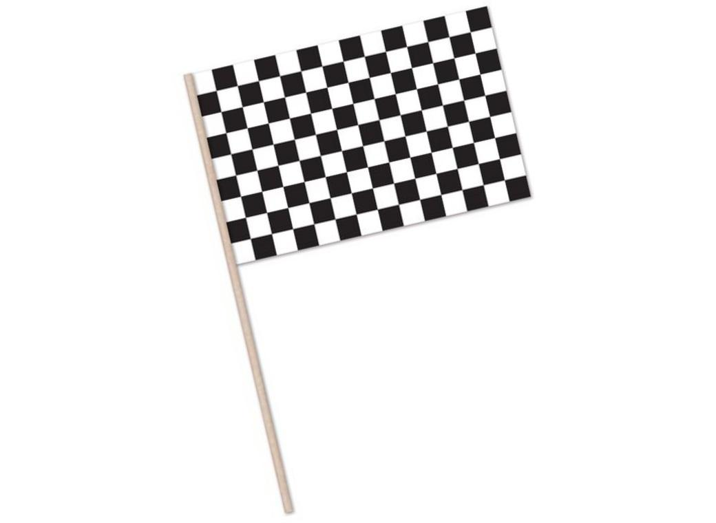 Black & White Checkered Flag Large