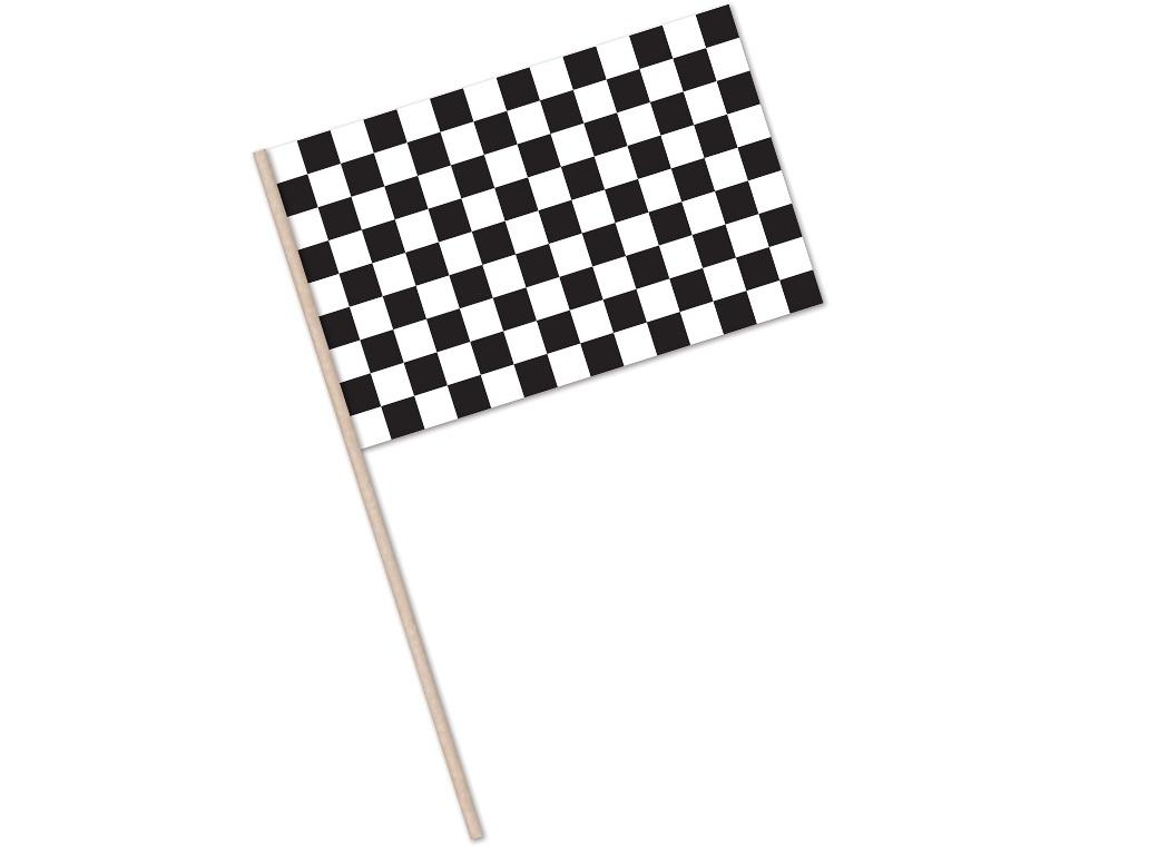 Black & White Checkered Flag Small