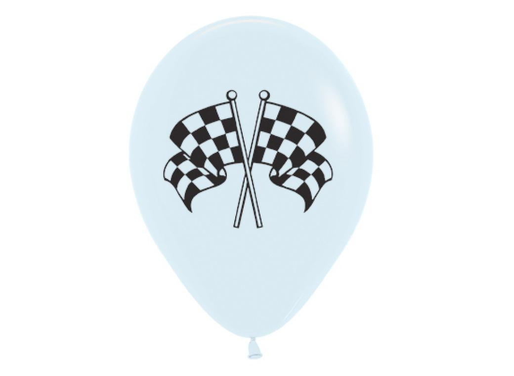 Racing Flag Balloons - 6pk