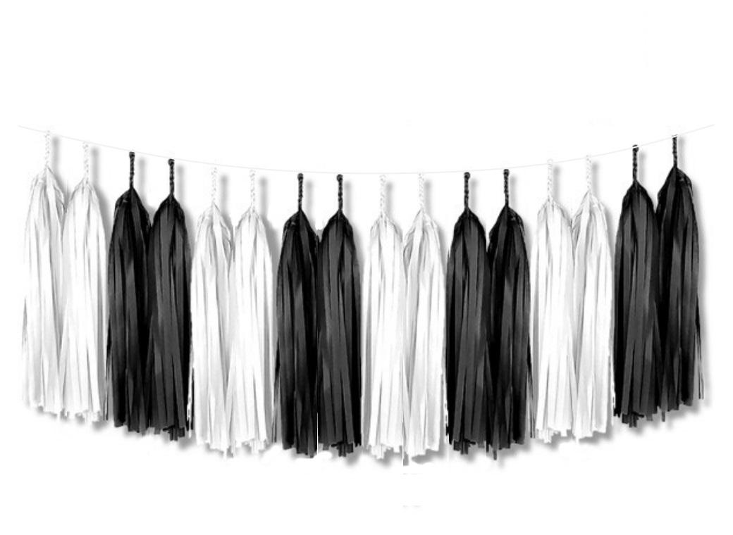 Tassel Garland Kit - Black & White