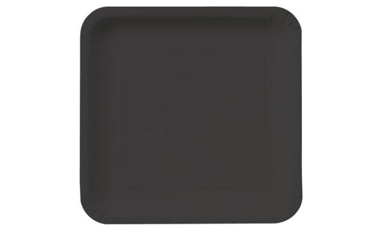 Dinner Plate Square - Black 12pk