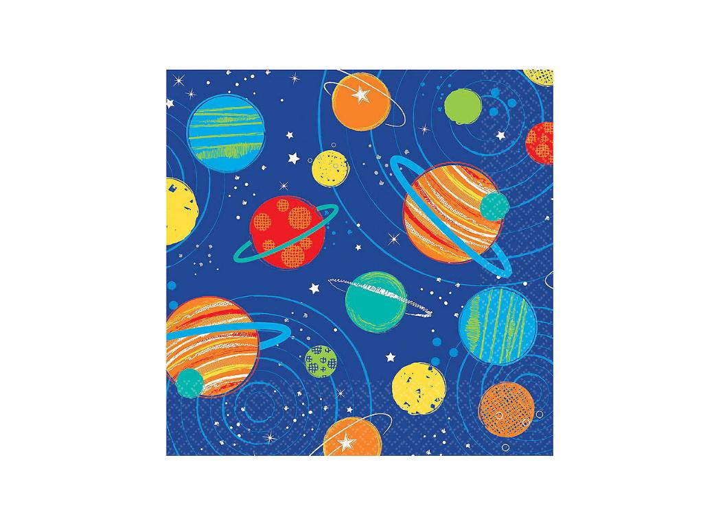 Blast Off Beverage Napkins 16pk