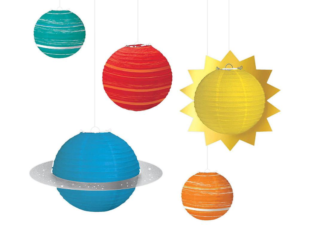 Blast Off Planet Lantern Decorations