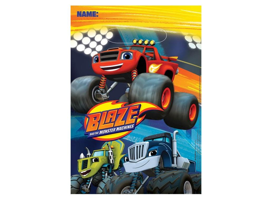 Blaze & the Monster Machines Loot Bags - 8pk
