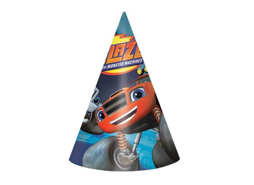 Blaze & the Monster Machines Party Hats - 8pk